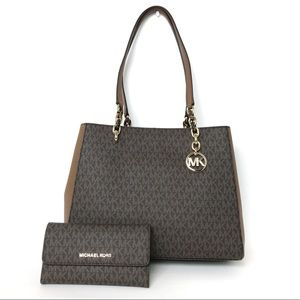 NWT Michael Kors Sofia Large Tote w/ Wallet Set